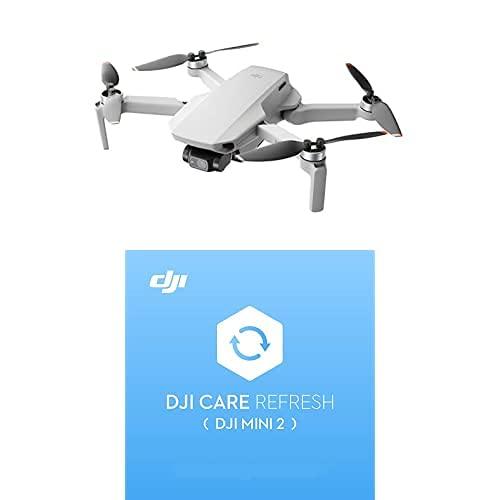 DJI Mini 2 - Ultraleggero e Pieghevole Drone Quadcopter, 3 Assi Gimbal con Camera 4K + Care Refresh (1 Anno) - Garanzia per DJI Mini 2, fino a Due Sostituzioni Entro 12 Mesi, Supporto Rapido