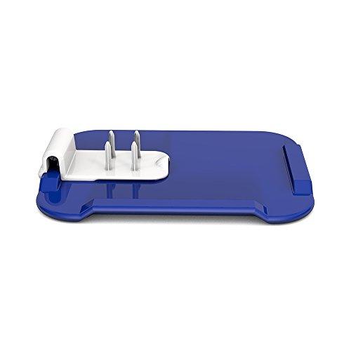 Ornamin Essbrettchen 22 x 17 cm blau mit Zubereitungshilfe (Modell 900 + 960) / Schneidebrett, Fixierbrett, Einhänderbrett