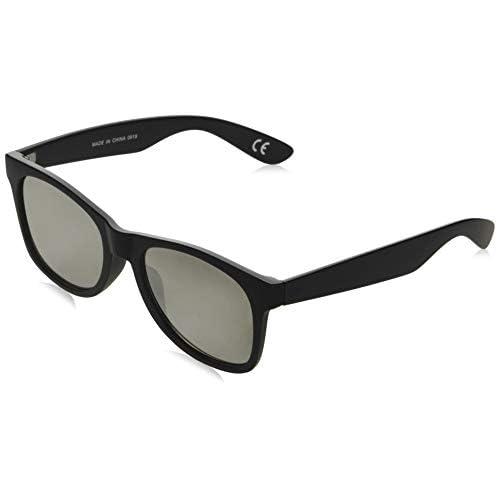 Vans Spicoli Flat Shades Occhiali da Sole, Nero (Black/Silver Mirror), 50.0 Uomo