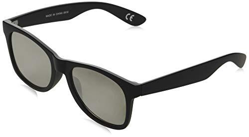 Vans Herren SPICOLI FLAT SHADES Sonnenbrille, Schwarz (Black-Silver Mirror), 50.0