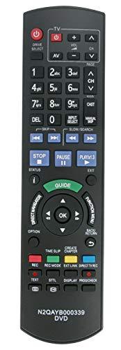 ALLIMITY N2QAYB000339 Fernbedienung Ersetzt für Panasonic DVD Freesat Recorder DMR-XS350 DMR-XS350EBK DMRXS350 DMRXS350EBK