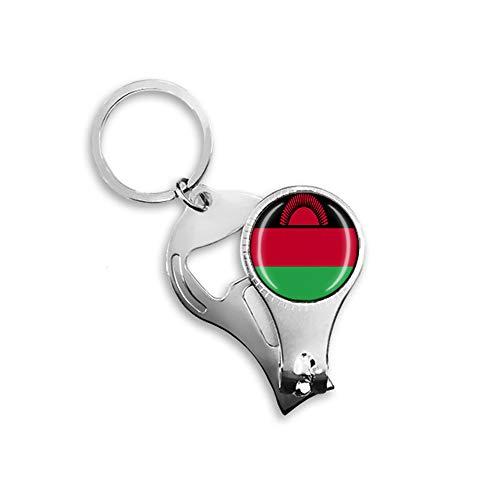 Malawi-Flagge, Bierflaschenöffner, Nagelknipser, Metall, Glas, Kristall, Schlüsselanhänger, Reise-Souvenir, Geschenk, Schlüsselanhänger Zubehör