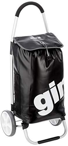 GIMI 5123025012-03-1017 Galaxy Carrello Portaspesa, Nero, Metallo, 51 x 41 x 102 cm