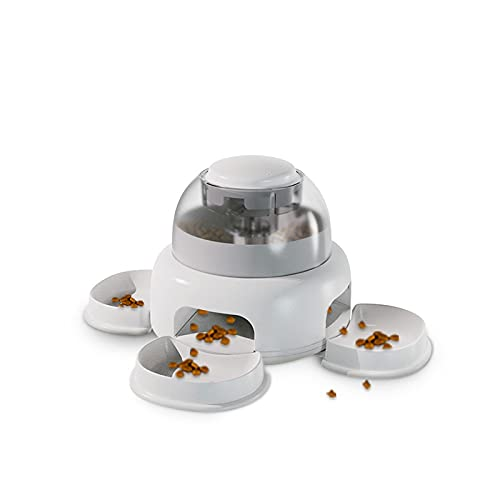 IITaozi Alimentadores de Mascotas Alimentadores automáticos para Perros Alimentos o dispensadores de Agua para Perros y Gatos Plástico Resistente, Tanque Transparente, Fondo Antideslizante