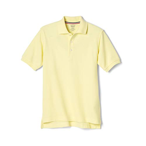 French Toast Boys' Short Sleeve Pique Polo Shirt (Standard & Husky), Yellow, 10-12