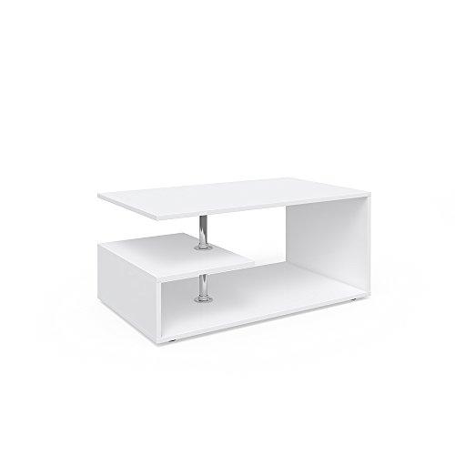 Vicco Tavolino da divano Guillermo Tavolino da salotto bianco 91 x 52 cm