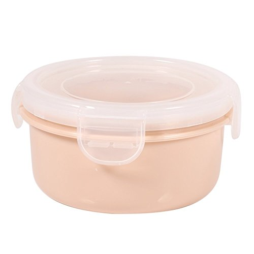 Food Storage Containers Bento Boxes Bpa Free Silicone with Locking Lids for Kitchen Food Fruit Case - Oven, Microwave, Freezer Safe(Round-Pink) 20