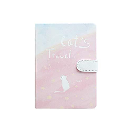 NUOBESTY Cuadernos creativos Decorativos Lindos únicos Cuadernos encantadores Cuadernos Diarios útiles Escolares para niñas Estudiantes de Oficina (Estilo Aleatorio)