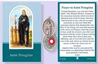St.Peregrine Relic Medal with Prayer to Saint Peregrine.
