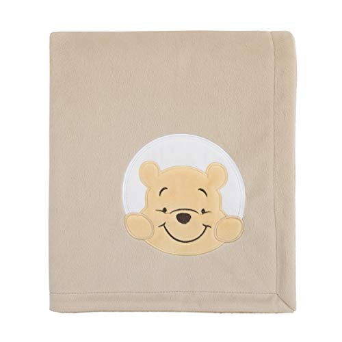 Disney Winnie The Pooh Hunny & Me - Grey & Marigold Super Soft Baby Blanket, Grey, Marigold