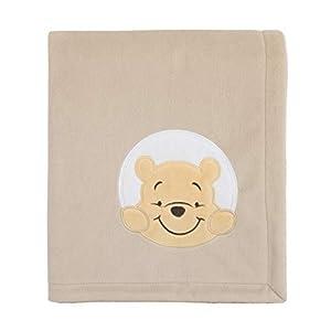 crib bedding and baby bedding disney winnie the pooh hunny & me - grey & marigold super soft baby blanket, grey, marigold