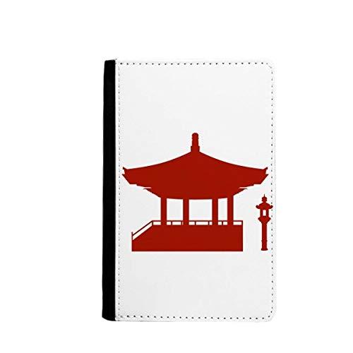 beatChong China-Pavillon Kultur Silhouette Muster-Pass-Halter Travel Wallet Abdeckungs-Fall Karten-Geldbeutel