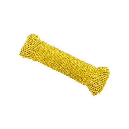 BD.Y Corde de Chanvre de 5 mm, 5 Couleurs - 10 m / 20 m / 50 m / 100 mTaille épaisse Corde de Jute Corde d'artisanat Solide pour Corde de Jardinage (Couleur: Jaune, Taille: 100 m)