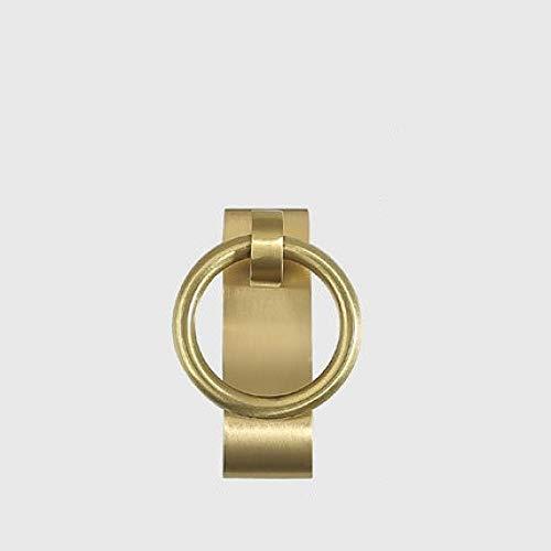 Perillas Para Muebles Manija De Extracción De Cajón De 41 mm Manija De Puerta De Gabinete De Cobre Antiguo Tirador De Puerta De Anillo Colgante De Gabinete 2 Uds