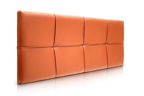 SUENOSZZZ-ESPECIALISTAS DEL DESCANSO Cabecero de Cama Square tapizado en Polipiel para Camas de 90 (100 x 57 cm) Polipiel Naranja