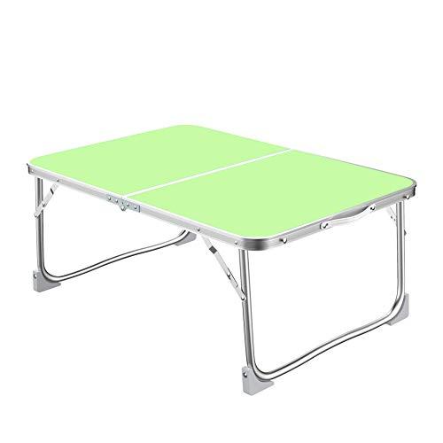 AWJ Klappbarer Camping-Tisch Picknicktisch Aluminiumrahmen Anti-Rost Tragbarer Camping-Picknicktisch Gartentisch Beistelltisch Klappbar, ausklappbar Größe 60x40x26cm
