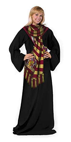 Harry Potter Comfy Throw Blanket with Sleeves, 48 x 71 Inches, Winter Potter
