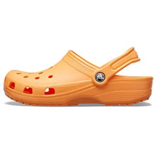 Crocs Classic Clog | Comfortable Slip on Casual Water Shoe, cantaloupe, 8 US Women / 6 US Men M US