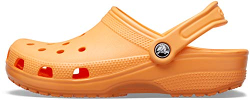 Crocs Classic Clog   Comfortable Slip on Casual Water Shoe, cantaloupe, 8 US Women / 6 US Men M US