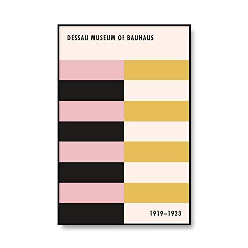 Póster con estampado de arte Bauhaus, lienzo con estampado de patrón geométrico abstracto, lienzo decorativo sin marco para el hogar, pintura A7 20x30cm