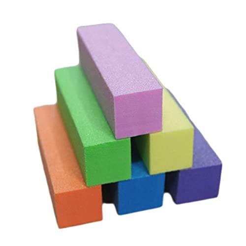 12ピースネイルバッファサンディングブロックファイルスポンジネイルポリッシャプロフェッショナルマニキュアツール(紫/青/ピンク/黄色/オレンジ/緑)