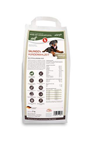 SALiNGO Premium Trockenfutter für Hunde | Pferd mit Süßkartoffel | getreidefrei | 83% Fleischanteil | Single Protein | hypoallergen | 2kg