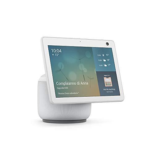 Nuovo Echo Show 10 (3ª generazione) | Schermo intelligente in HD con movimento e Alexa, Bianco ghiaccio