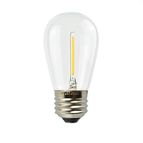 Iluminación De Bombillas Led,Bombilla De Edison Vintage,S14LedBombilla DeFilamentoLedImpermeable De1W E27Christmas String