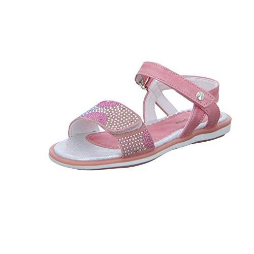 GIRLZ ONLY Kinder Sandale 6580706 Mädchen Sandalette Schuleinführung Fest Rosa (pink) Größe 26 EU