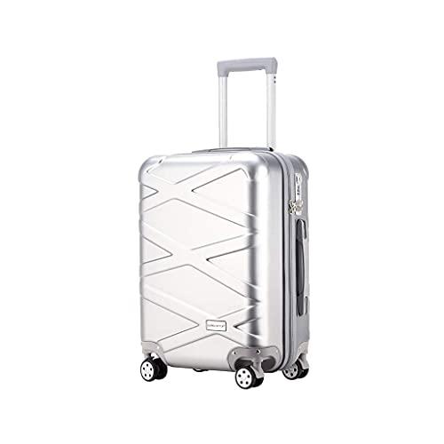 JIAWYJ Maleta portátil/Equipaje Conjuntos Suitcases Carreras Ruedas Ruedas Viajes Ligeros con Maletaseshand 26 Pulgadas/Código de Productos: LWH-30 (Color : Silver)
