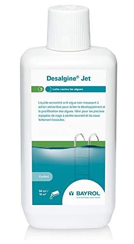 Bayrol Désalgine Jet 1L, Algicide Non moussant, Ultra concentré, sans Chlore et avec Effet clarifiant Empêche la Croissance des algues dans la Piscine