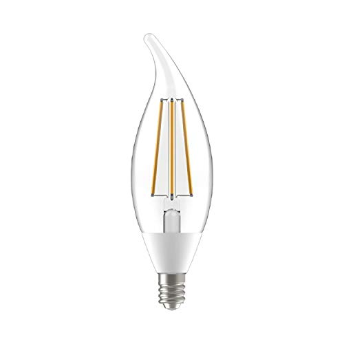GE LED+ Dusk to Dawn Light Bulbs, Outdoor LED Light Bulbs, 60-Watt Replacement, Soft White, Candelabra Base, Motion Sensor Light Bulbs, Outdoor Light Bulbs, 2-pack CAC Damp Rated