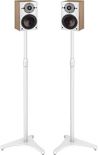 PERLESMITH Speaker Stands Extend 30 45 Inch with Upgraded Cable Management Hold Satellite Small product image
