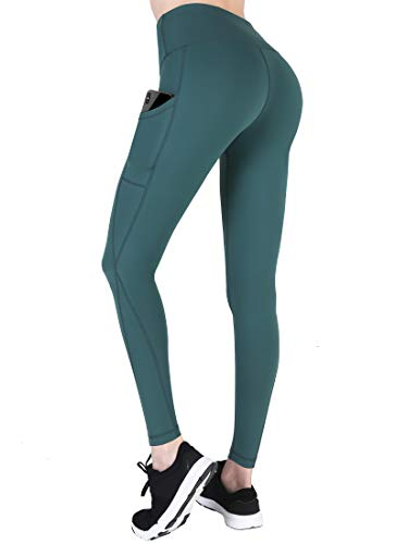 High Waisted Yoga Pants with Pockets - Tummy Control, Squat-Proof Workout Pants