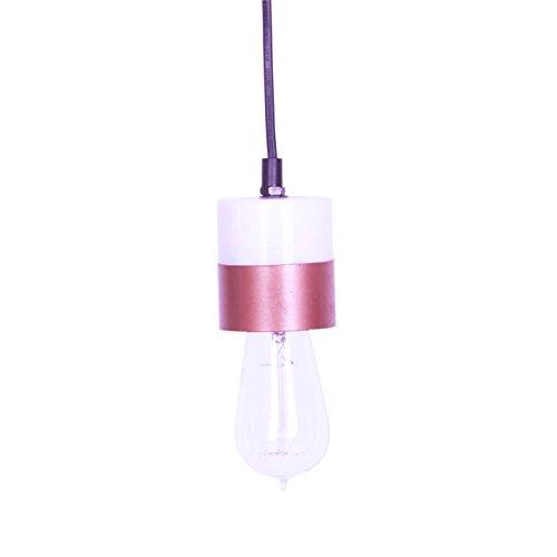 KADIMA DESIGN Lampe Suspension 1x Lampe Suspension marbre Ella Blanc/cuivre