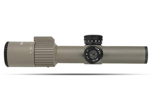 Monstrum Alpha Series 1-6x24 First Focal Plane FFP Rifle Scope with MOA Reticle   Flat Dark Earth