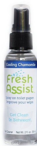 Fresh Assist Best Flushable Wipe Alternative for Septic Systems (Cooling Chamomile)