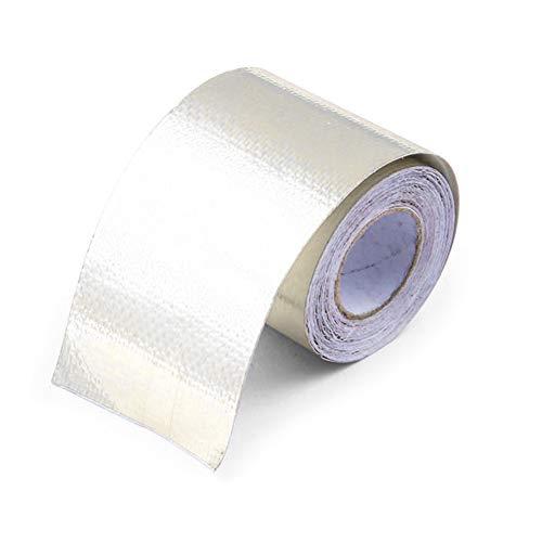 Cinta de papel de aluminio, cintas adhesivas de aluminio Autoadhesivo, Cinta aislante resistente a altas temperaturas Cinta adhesiva impermeable para reparación de HVAC Campana extractora, 5 m * 5 cm