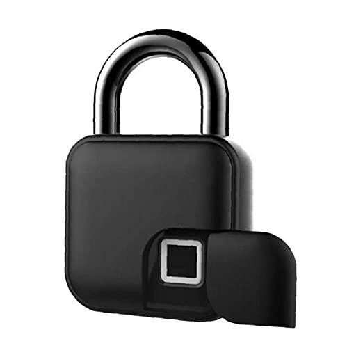 Huella Digital Candado Locker ID Inteligente Bloqueo electrónico sin Llave del candado de la Huella Digital Cerradura de Puerta Candado del hogar Armario Negro
