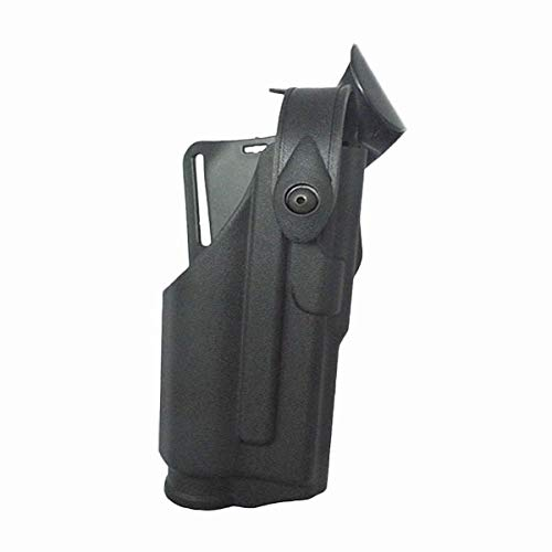 LIUSHUNBAO, Holster Tactique for Glock 17 19 22 23 31 32 Airsoft Pistolet Pistolet Penderie Portant Lampe de Poche Chasse Combat Glock Ceinture Taille Plateforme (Color : Black Holster)