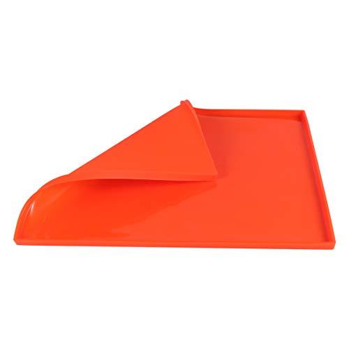 Cabilock オレンジシリコーンスイスロールケーキマット曲げ可能なゼリーロールケーキ型天板ノンスティックゼリーロールパンベーキングトレイペストリーマットピザシリコーンクッキー型