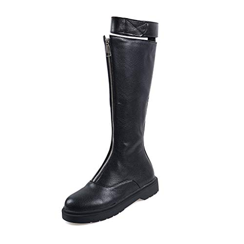 Review Of Hopwin Womens Knee High Riding Boots | Front Zipper Western Flat Boot Shoes for Ladies Pu ...