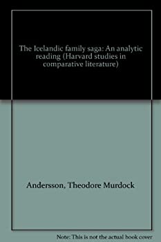 Hardcover The Icelandic family saga: An analytic reading (Harvard studies in comparative literature) Book