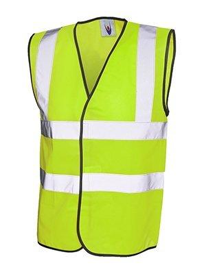 MAKZ Uneek Hi Viz Gilet veste de sécurité - Jaune, Large