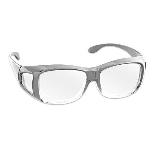 アイメディア 拡大鏡 ルーペ 拡大鏡メガネ 1.8倍 メガネ型拡大鏡 ルーペメガネ メガネルーペ メガネ型ルーペ クリア 男女兼用