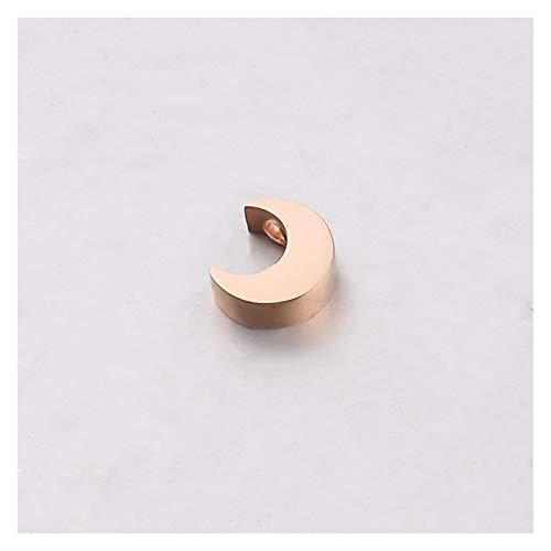 ZRDY 5 X 8 Mm De Acero Cuentas Luna del Espaciador Inoxidable del Oro For La Joyería De DIY Que Hace Accesorios Collar Pulsera Crafts (Color : Rose Gold)