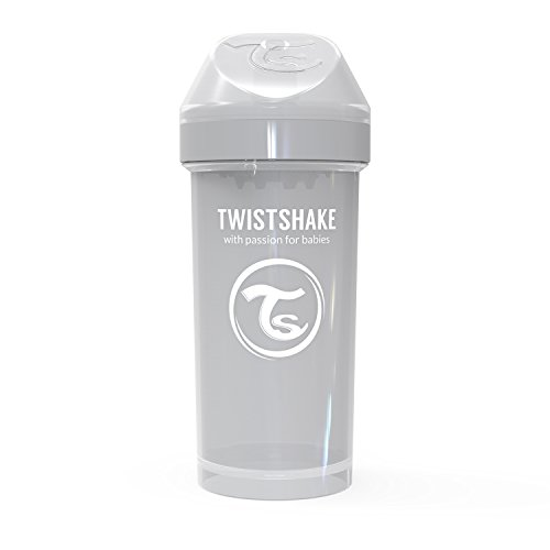 Vital Innovations 78284 Trinkbecher Twistshake Kid Cup, 360 ml, grau