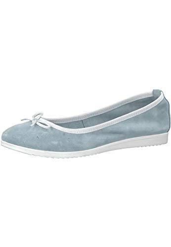 Tamaris 1-22102-20 977 Dameshemd/Wit Blauw/Wit Ballerina