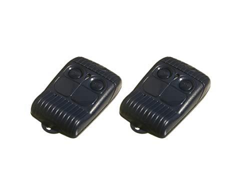 2 x Allmatic B.RO2WN Brown Handsender 433 Mhz Rolling Code 2-Befehl Bernal Wave Funksender Funksender Fernbedienung Garagentoröffner