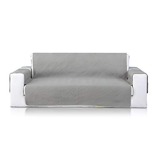 PETCUTE Sofabezüge Sofaschoner sofaüberwurf 2 Sitzer Sesselschoner Sofabezug Elegantes Couch überwurf sofahusse Grau